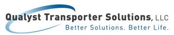 Logo: Qualyst Transporter Solutions. Better Solutions, Better Life